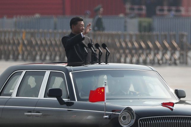 Chinese President Xi Jinping said there is no force that can shake the foundation of his country as China celebrates its 70th anniversary. Photo by Roman Pilipey/EPA-EFE