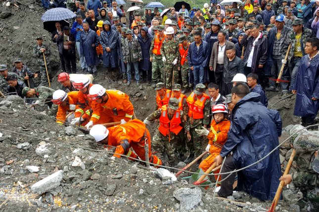 China's massive landslide site hit by secondary slides