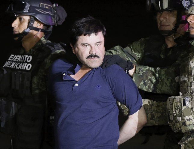 A recording of accused drug lord Joaquin El Chapo Guzman negotiating a cocaine deal was played for jurors in his drug conspiracy trial Thursday. Photo by Jose Mendez/EPA