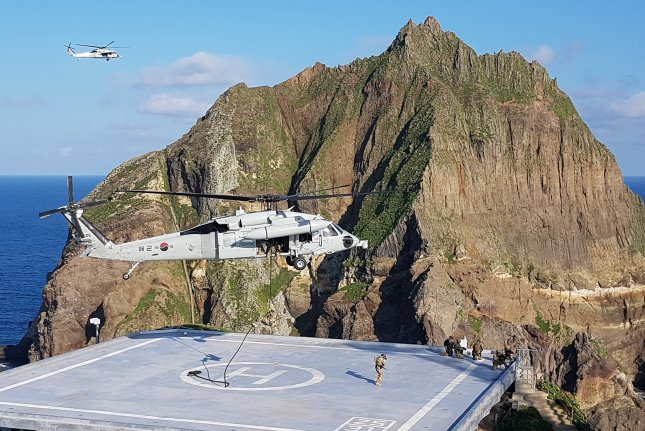 South Korea said Tuesday that military exercises being held near the Dokdo Islets in the East Sea this week are part of annual training. File Photo by Yonhap
