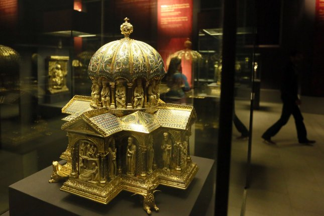 The U.S. Supreme Court will hear arguments in a case brought by Jewish heirs of art dealers who sold a collection of medieval artifacts known as the Guelph Treasure to the Nazis in 1935.File Photo by Stephanie Pilick/EPA