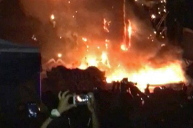 22,000 evacuated after fire on festival stage near Barcelona