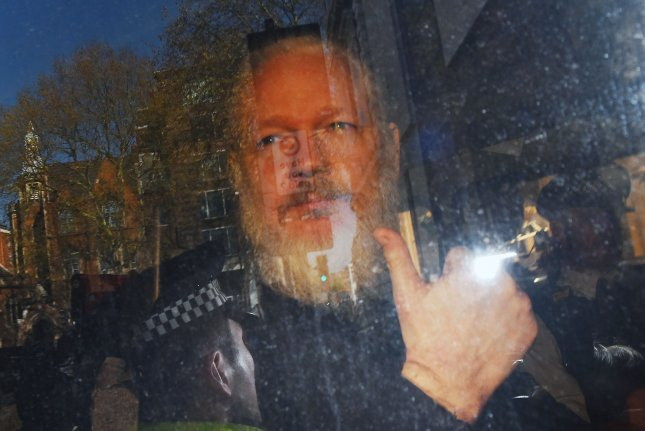 Julian Assange is accused of releasing sensitive information that put operatives' lives in danger, U.S. prosecutors said. File Photo courtesy of EPA-EFE