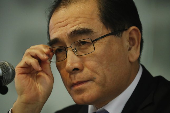 Thae Yong-ho, the former North Korean diplomat who is now in South Korea's parliament, says the North must repay loans to the South. File Photo by Jeon Heon-Kyun/EPA-EFE