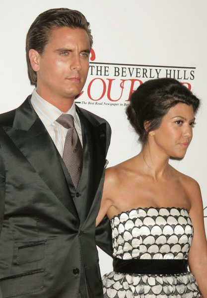 Kourtney Kardashian (R) and Scott Disick at the Taste of Beverly Hills on September 2, 2010. The couple were together nine years before splitting in July. File Photo by s_bukley/Shutterstock