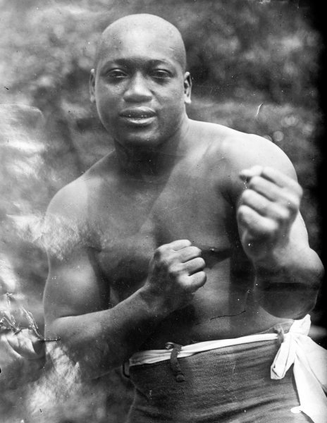 Portrait of boxer Jack Johnson, also known as the Galveston Giant, who became the first African American world heavyweight boxing champion from 1908-1915. File Photo by Library of Congress/UPI
