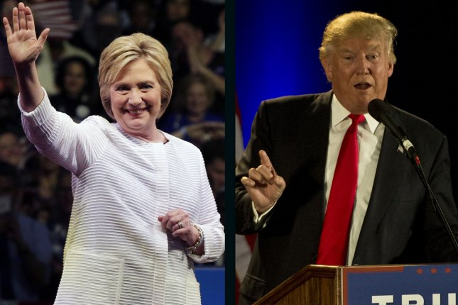 Hillary Clinton leads Donald Trump by 3.5 percent in a UPI/CVoter poll released Monday. UPI file