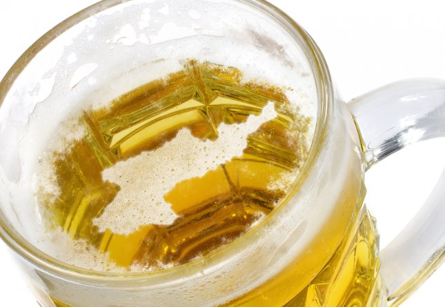 Beer head in the shape of North Korea, where scientists claim to have developed a hangover-free liquor from ginseng. Photo by Per Bengtsson/Shutterstock.com