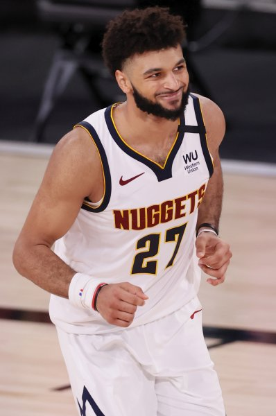Denver Nuggets guard Jamal Murray scored a game-high 40 points in a playoff win over the Los Angeles Clippers on Wednesday in Orlando, Fla. Photo by Erik S. Lesser/EPA-EFE