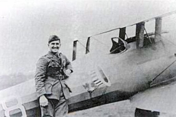 On April 14, 1918, two U.S. pilots of the shot down two enemy German planes during World WarII, the first U.S.-involved dogfight in history. One of the pilots, Lt. Douglas Campbell, became the first U.S. flying ace. File Photo courtesy the U.S. Army