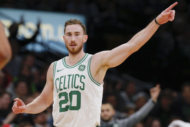 Boston Celtics forward Gordon Hayward is averaging 17.5 points, 6.7 rebounds and 4.1 assists per game this season. File Photo by CJ Gunther/EPA-EFE