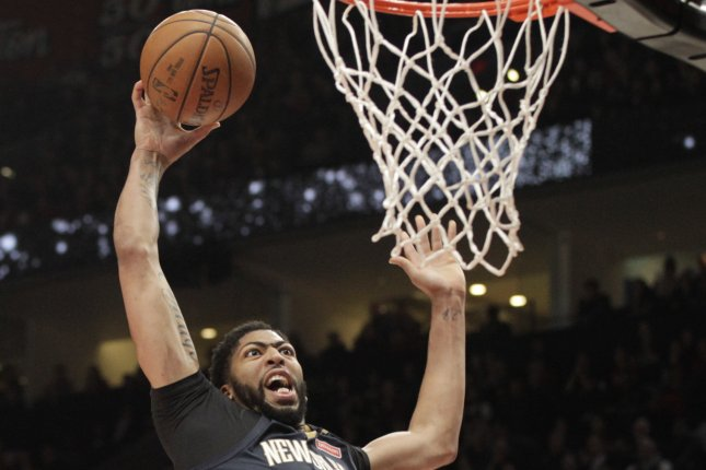 New Orleans Pelicans forward Anthony Davis. Photo by Steve Dipaola/EPA-EFE