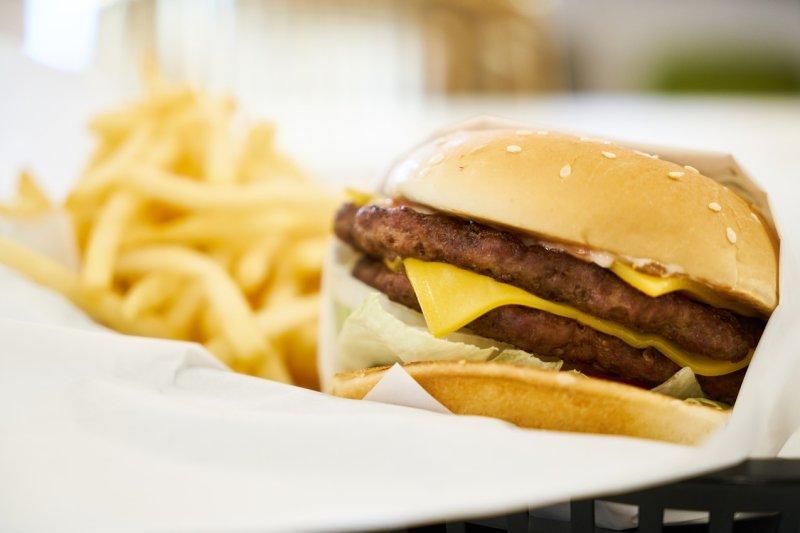 Hamburger and fries. Photo by Engin_Akyurt/Pixabay link back to: https://pixabay.com/photos/burger-food-delicious-cheeseburger-3783179/