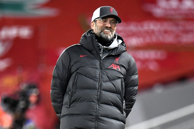 RB Leipzig could attempt to convince Liverpool to swap the home games, but the Premier League side is reportedly unwilling to do so. File Photo by Peter Powell/EPA-EFE