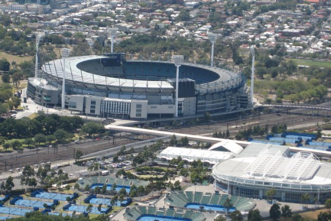 Fans, who were barred from attending the 2021 Australian Open due to a five-day COVID-19 lockdown in Victoria can return to Rod Laver Arena Thursday to attend the remaining six matches of the tournament. Photo by Jeffery from Christchurch, New Zealand/WikiMedia Commons
