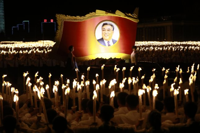 Kim Il Sung, the founding leader of North Korea, had a minor military record that has been embellished by the regime. Pyongyang's culture of propaganda began under Soviet occupation, according to a South Korea-based analyst. File Photo by How Hwee Young/EPA-EFE