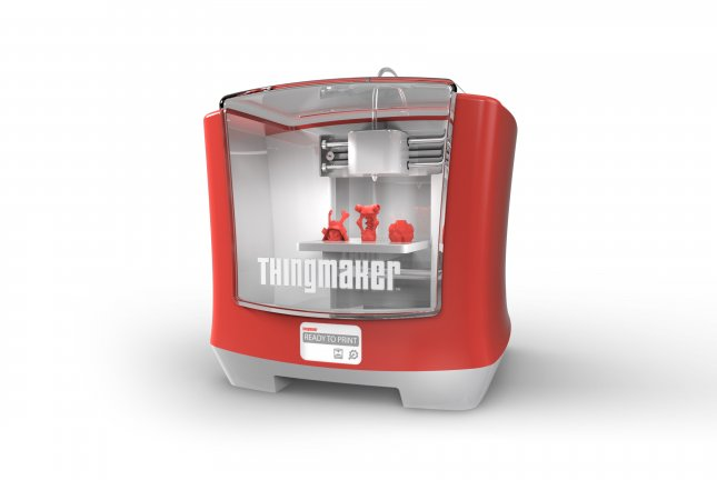 Mattel teamed up with Autodesk to bring the first child-friendly 3D printers into consumer homes with ThingMaker, a 21st Century version of their 1960s-era toy-making oven. Though not available until October, pre-orders are being taken on Amazon now and a non-working prototype was shown at this weekend's Toy Fair in Manhattan. Photo courtesy Mattel