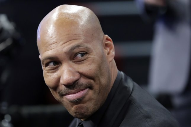 LaVar Ball, the father of NBA prospect Lonzo Ball, in attendance before the first round of the 2017 NBA Draft on June 22 at the Barclays Center in Brooklyn, New York. File photo by Jason Szenes/EPA
