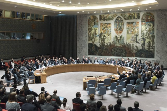 South Korea imposes financial sanctions on 20 North Korean companies and 12 individuals on Monday. File Photo by Mark Garten/United Nations