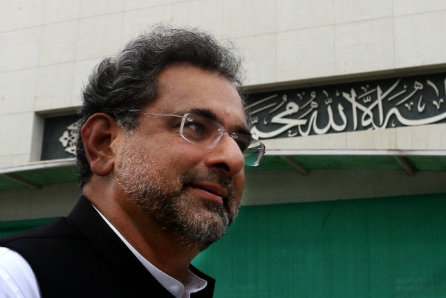 Former Pakistan Prime Minister Shahid Khaqan Abbasi, pictured here in 2017, made illegal hirings while in the leadership post, the charges say. File Photo by S. Shahzad/EPA