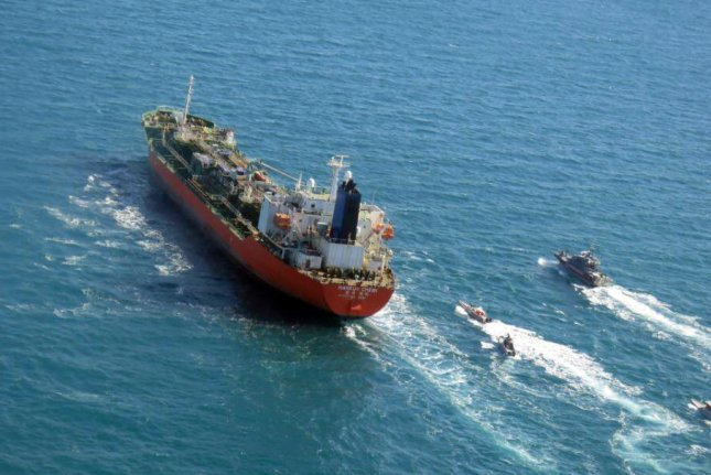 Iran and South Korea are in talks after Iran's Revolutionary Guards captured the MT Hankuk Chemi, a South Korea-flagged tanker, in the Strait of Hormuz on Jan. 4, according to Seoul on Wednesday. File Photo by Tasnim News Agency/EPA-EFE