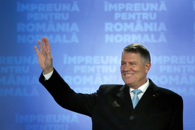 Romania's center-right President Klaus Iohannis won the presidential runoff election Sunday. Photo by Robert Ghement/EPA-EFE