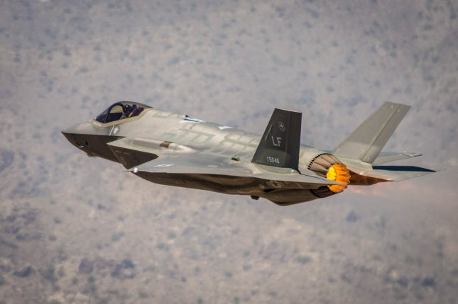 An F-35A Lightning II, assigned to the 56th Fighter Wing, takes off from Luke Air Force Base, Ariz., Aug. 3, 2018. Currently 72 F-35's are assigned to Luke AFB flying more than 20,000 hours since first arriving in 2014. Photo by Staff Sgt. Jensen Stidham/U.S. Air Force