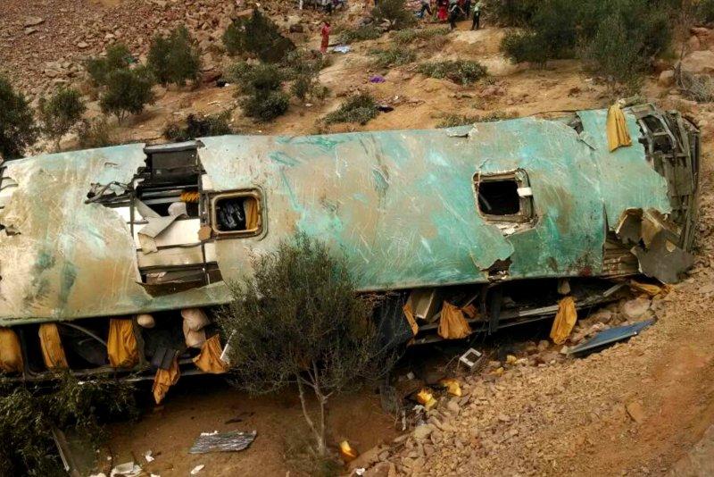 Bus veers off cliff in Peru, 36 dead