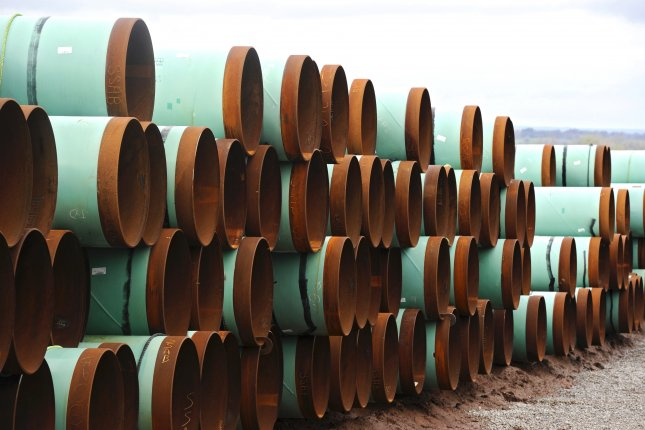 A spokeswoman for TransCanada said a spill from the Keystone oil pipeline in South Dakota last year was larger than originally estimated. File Photo by Larry W. Smith/EPA