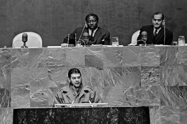 Ernesto Che Guevara addresses the United Nations General Assembly on December 11, 1964. On December 30, 1958, revolutionaries under the command of Guevara battled with government troops loyal to Cuban President Fulgencio Batista for control of the city of Santa Clara. Within 12 hours of the rebel victory, Batista had fled the country, with control of the country passing to Fidel Castro. File Photo courtesy of the United Nations