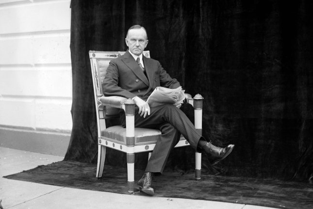 On August 3, 1923, Calvin Coolidge took the oath of office as president of the United States following the unexpected death President Warren G. Harding. File Photo by Library of Congress/UPI