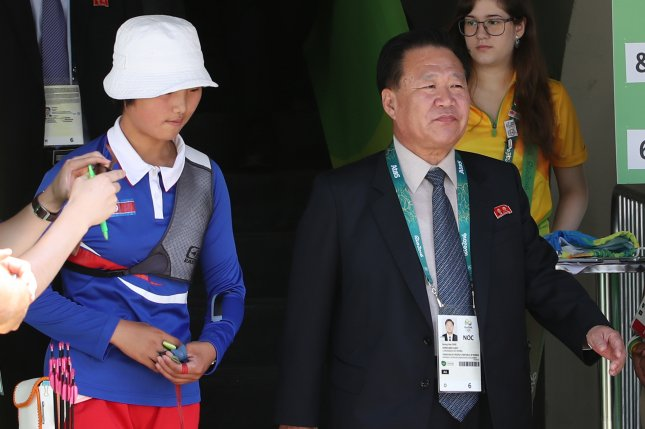Choe Ryong-hae (R), president of the Presidium of North Korea's Supreme People's Assembly, left Pyongyang on Tuesday, according to state media. File Photo by Yonhap