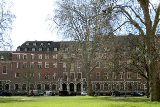 Church House, pictured on March 29, 2016, is the headquarters of the Church of England, occupying the south end of Dean's Yard next to Westminster Abbey in London. It was the location of the first meeting of the United Nations Security Council on January 17, 1946. File Photo by Paasikivi/Wikimedia