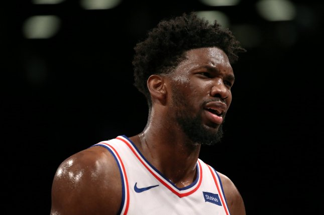 Philadelphia 76ers center Joel Embiid had just 17 points, but came alive late in a win against the Cleveland Cavaliers Tuesday in Philadelphia. Photo by Peter Foley/EPA-EFE