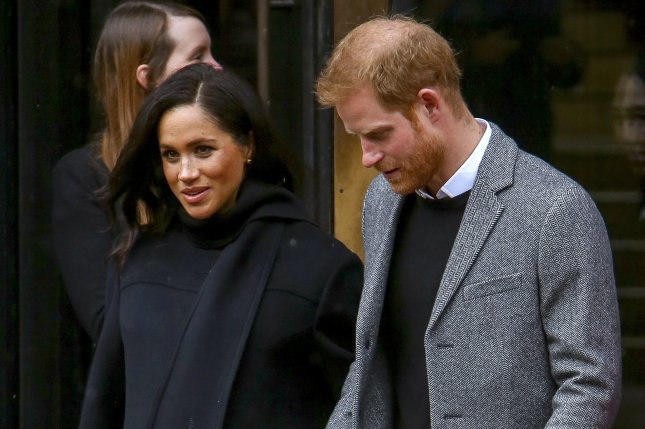 Prince Harry (R) and Meghan Markle reached one million followers on Instagram less than six hours after launching @sussexroyal. File Photo by Geoff Caddick/EPA-EFE