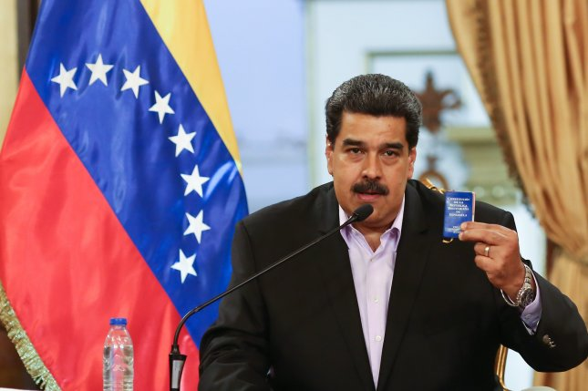 The U.S. Treasury said Tuesday the new sanctions seek to punish people and entities that have attempted to help the regime of Venezuelan President Nicolas Maduro evade existing restrictions. File Photo by EPA-EFE