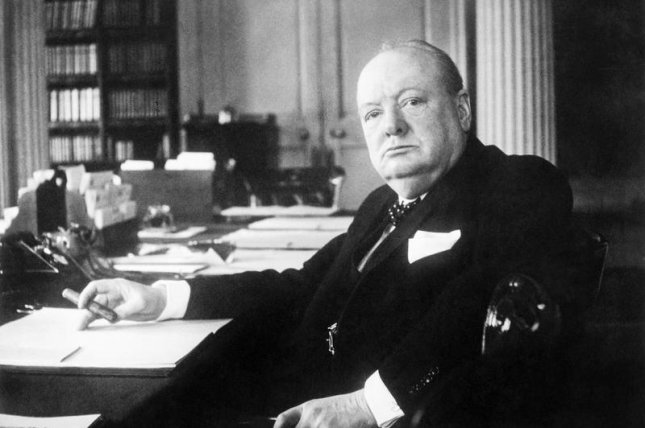 Winston Churchill died shortly after 8 a.m. today 10 days after he suffered a stroke, it was announced officially. He was 90. File Photo courtesy Cecil Beaton/Imperial War Museums