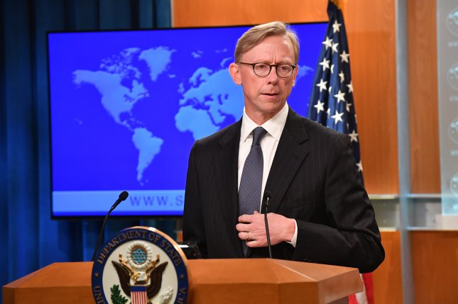 Brian Hook speaks at the announcement of the creation of the Iran Action Group at the State Department on Thursday. Photo by Michael Gross/U.S. State Department