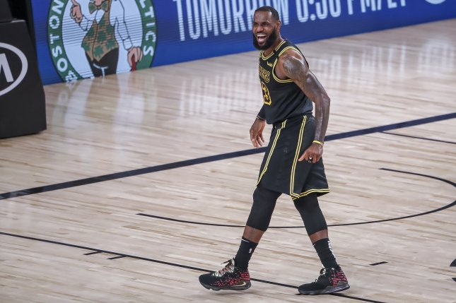 Los Angeles Lakers forward LeBron James, who led the league in assists this year, averaged 25.3 points, 10.2 assists and 7.8 rebounds per game in the regular season. Photo by Erik S. Lesser/EPA-EFE