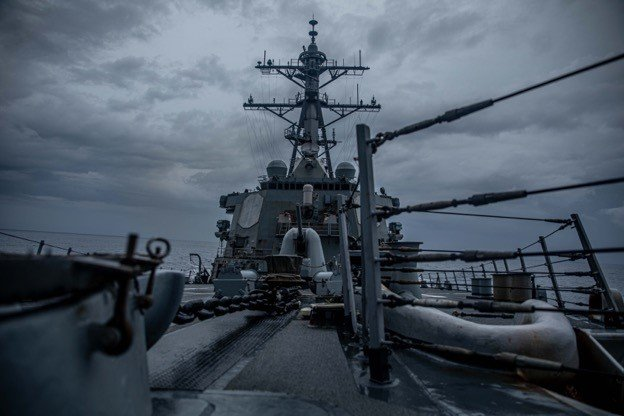 The USS Curtis Wilbur on Tuesday transited the Taiwan Strait, the U.S. Navy announced. Photo courtesy of the U.S. Navy