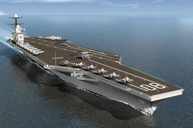 An artist's rendition of the future USS Enterprise, which will be the third of the Navy's Ford-class aircraft carriers. General Atomics this week was awarded a contract for work on construction of the Enterprise, as well as the USS John F. Kennedy. Photo courtesy of the U.S. Navy