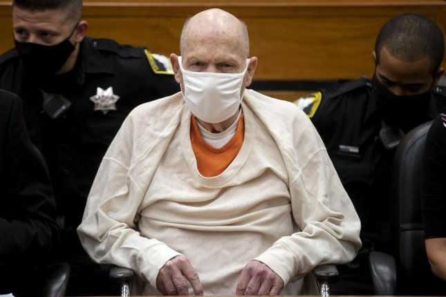 Joseph James DeAngelo, also known as the Golden State Killer who eluded authorities for decades after a series of brutal crimes, is seen Thursday on the third day of victim impact statements at the Gordon D. Schaber Sacramento County Courthouse, in Sacramento, Calif. Photo by Santiago Mejia/EPA-EFE/Pool