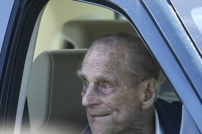 Britain's Prince Philip, 98, was hospitalized Friday for what was termed a pre-existing condition. File Photo by Neil Hall/EPA-EFE