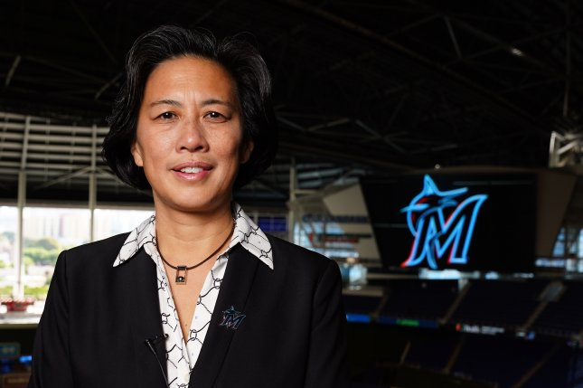 New Miami Marlins general manager Kim Ng said she was inspired by the dozens of women who have been hired in recent years to serve as front office executives, coaches and officials in the NBA and NFL before she was hired on Friday. Photo by Joseph Guzy/Miami Marlins