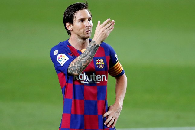 FC Barcelona said it denies any responsibility in the publication of Lionel Messi's contract on Saturday in El Mundo. Photo by Alberto Estevez/EPA-EFE
