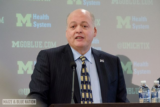 Ford President and CEO Jim Hackett will retire at the start of October after three years in the post, the automaker said Tuesday. File Photo by Maize & Blue Nation/Wikimedia Commons