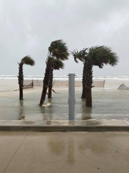 Heavy rains and floodwaters from Hurricane Sally are seen in Gulf Shores, Ala., late Tuesday before the storm's arrival. Sally arrived early Wednesday as a Category 2 hurricane. Photo courtesy City of Gulf Shores/Facebook