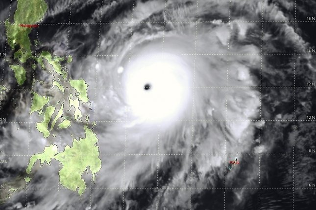 Super Typhoon Surigae churned over the Philippine SeaI on Saturday. Image courtesy of the Joint Typhoon Warning Center