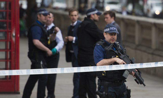 London police arrested three women on Monday, charging them with terrorism-related offenses. Their arrests are part of a roundup in what the Metropolitan Police said was the foiling of a terrorist plot, in which a man was arrested Thursday and a woman was shot. File Photo by Will Oliver/EPA