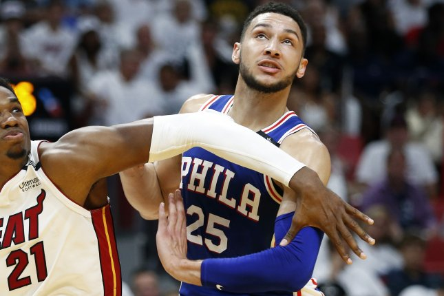 Ben Simmons and the Philadelphia 76ers face the Charlotte Hornets on Friday. Photo by Rhona Wise/EPA-EFE/-Shutterstock